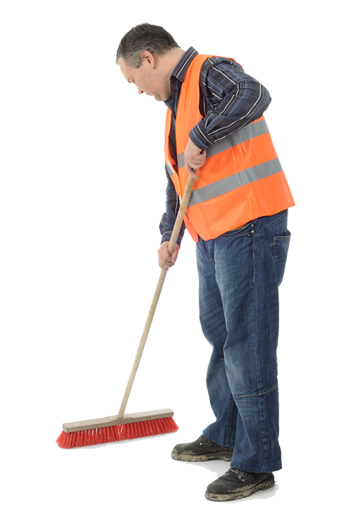 Photo Man Sweeping